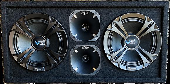 """VOICEBOX® Dual 10"""" Dustcap Midrange Enclosure with Horns - BLACK"""