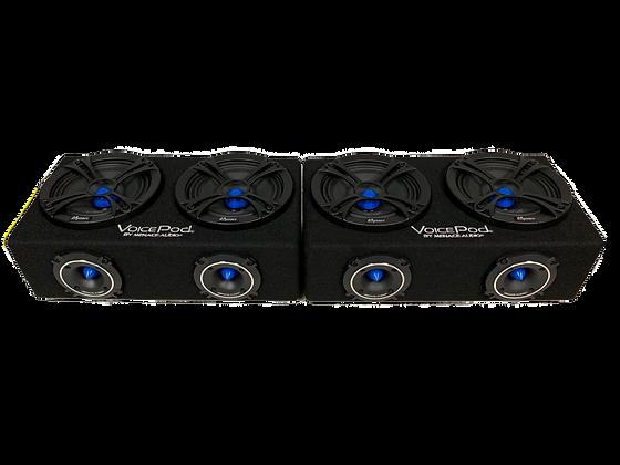 "PAIR of VOICEPOD® 6.5"" Dual Midrange Enclosure - BLUE"