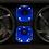 "Thumbnail: VOICEBOX® Dual 10"" Midrange Enclosure with Horns - BLUE"