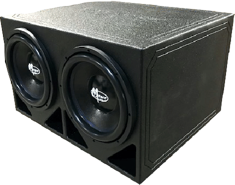 "Menace Audio® BassArmor™ Dual12"" Corner Vented Box"