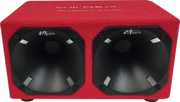 Dual Horn Enclosure - RED/BLACK (400 Watts)