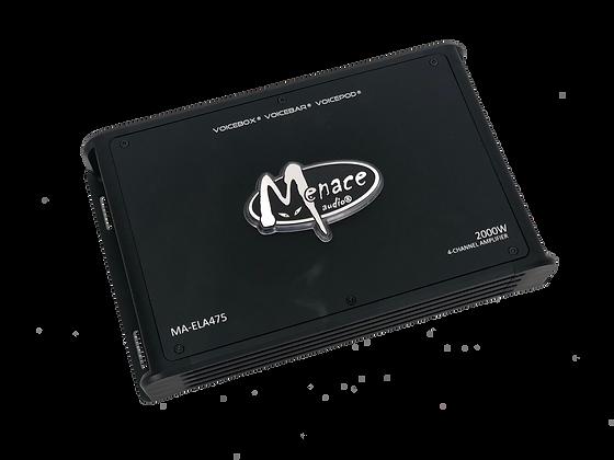 Menace Audio® 2000W 4 Channel Amplifier