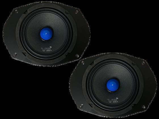 Menace Audio® 6x9 Midrange Plate Speaker PAIR - Blue Bullet