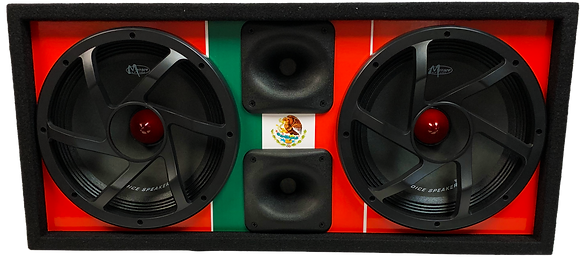 "VOICEBOX® Dual 10"" Midrange Enclosure with Horns - MEXICO"