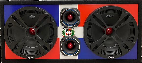 "VOICEBOX® Dual 10"" Midrange Enclosure with Tweeters -DOMINICAN REPUBLIC"
