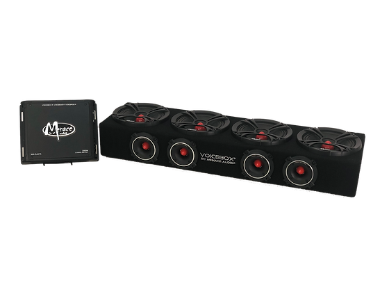 """VOICEBOX® 4 - 6.5"""" Midrange Enclosure + Amplifier Combo Package"""