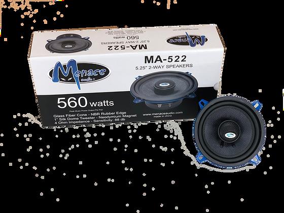 "Menace Audio® 5.25"" 2-Way Coaxial Speakers"