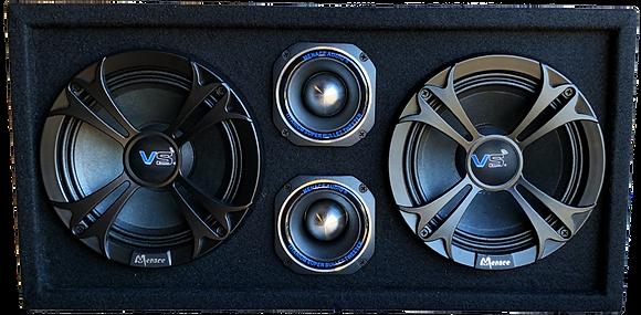"""VOICEBOX® Dual 8"""" Midrange Enclosure with Tweeters - SILVER"""
