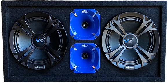 "VOICEBOX® Dual 8"" Midrange Enclosure with Horns - BLUE"