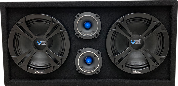 "VOICEBOX® Dual 8"" Midrange Enclosure with Tweeters - Blue"