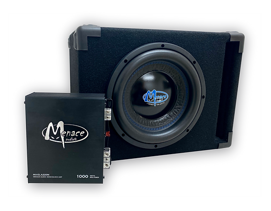 "Single 12"" BASSPOD® Subwoofer Enclosure with Amplifier PACKAGE"