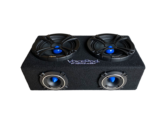 "VOICEPOD® 6.5"" Dual Midrange Enclosure - BLUE"