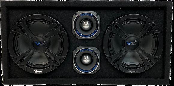"""VOICEBOX® Dual 10"""" Midrange Enclosure with Tweeters - SILVER"""