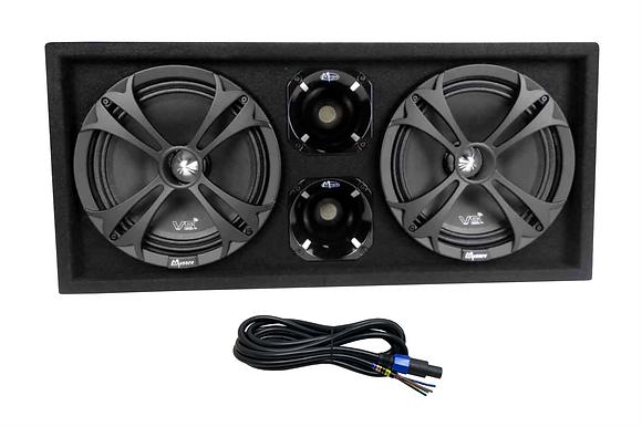 "PRE-ORDER!!! Menace Audio® Dual 10"" Loaded Midrange Enclosure SILVER NEW DESIGN"