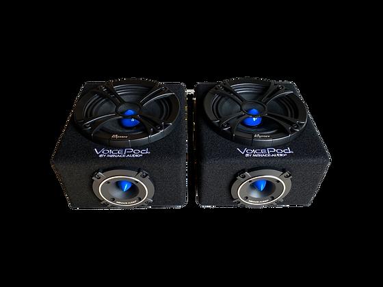 """VOICEPOD® 6.5"""" Midrange Enclosure - PAIR (BLUE)"""