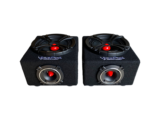 "VOICEPOD® 6.5"" Midrange Enclosure - PAIR (RED)"