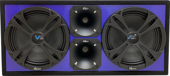 "VOICEBOX® Dual 10"" Midrange Enclosure with Horns - BLUE"