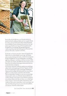 Die Allgäuerin, Artikel über die Stuhlflechterin Susanne Achtzehner, Winter 2009