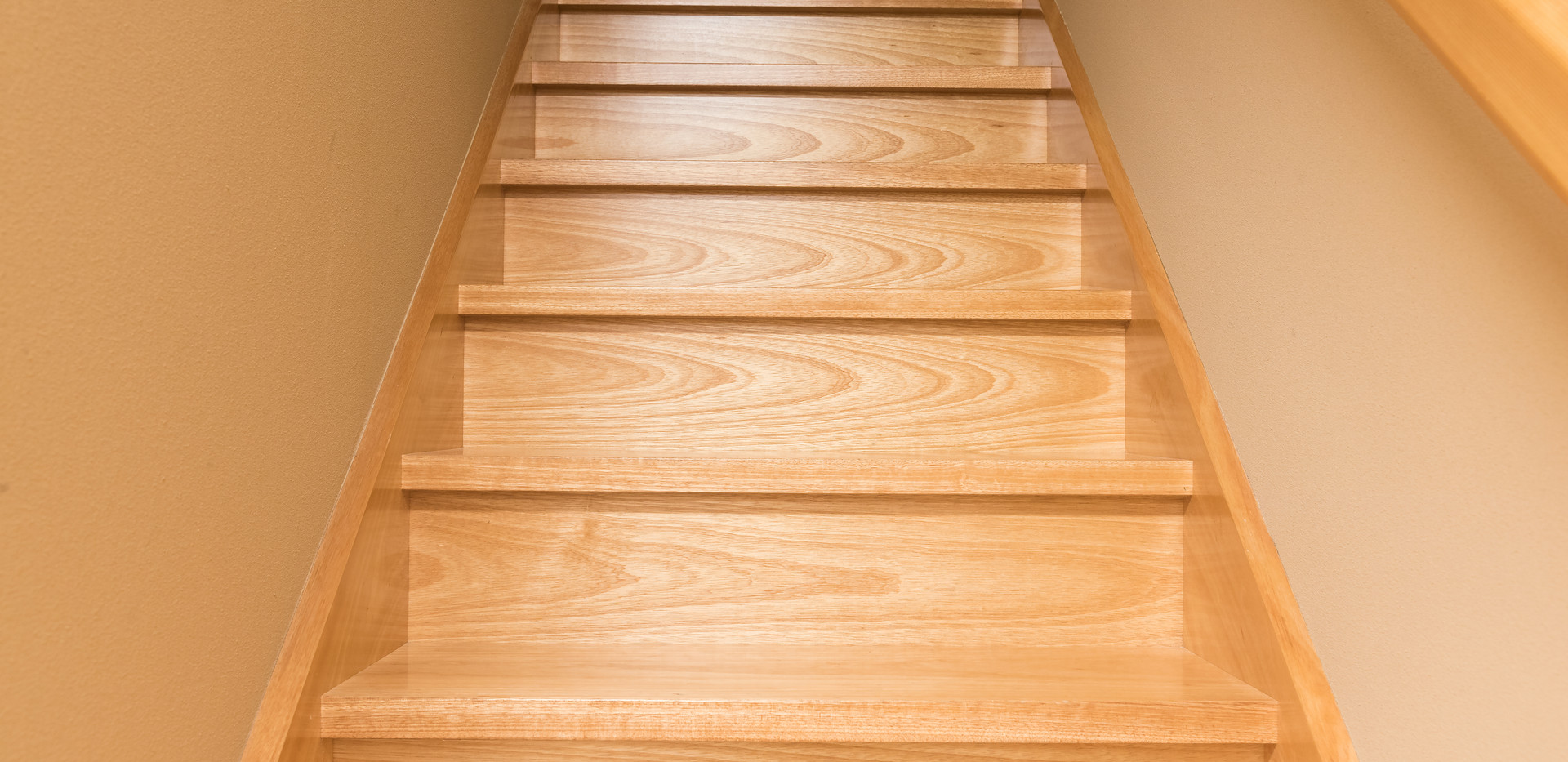 Wooden staircase, classic Japanese stair