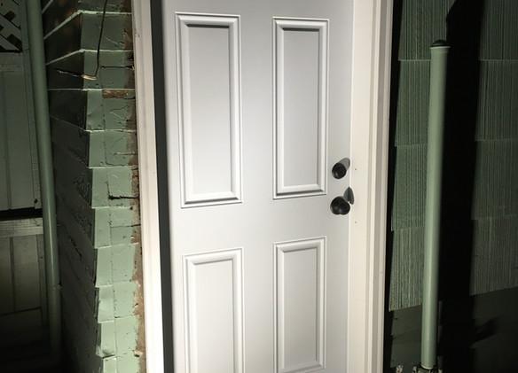6 panel steel exterior door
