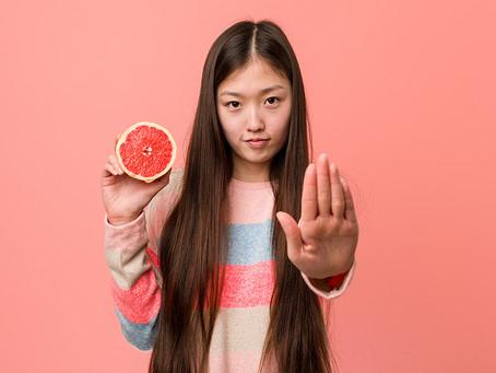 グレープフルーツと併用注意のお薬を飲んでいる方はお読みください!