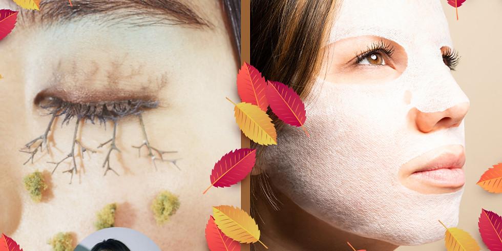 CBDバームを使って小顔効果マッサージ ~アイメイクレッスン+CBDfxフェイスマスク付