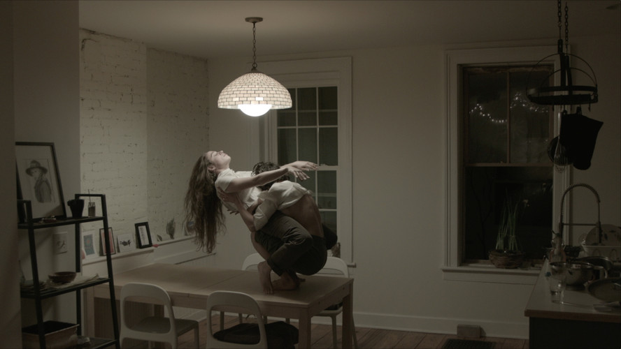 Still from Mother Sparrow music video featuring Make the Brutal Tender choreography for music artist Sonya Belaya. Cinematography by Carmen Hilbert.
