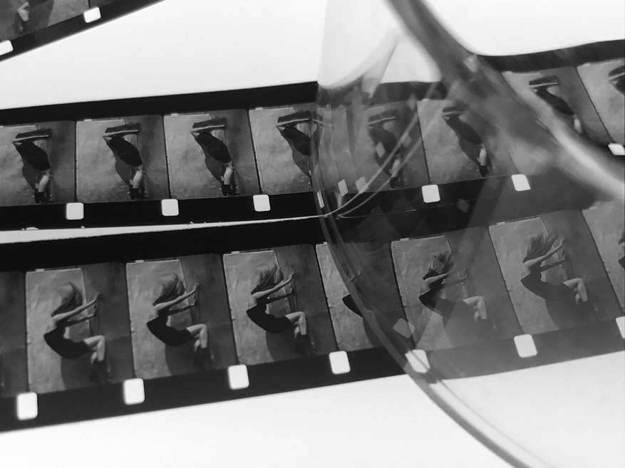 16mm film of movement research. Image by Steve Cossman (MONO NO AWARE)