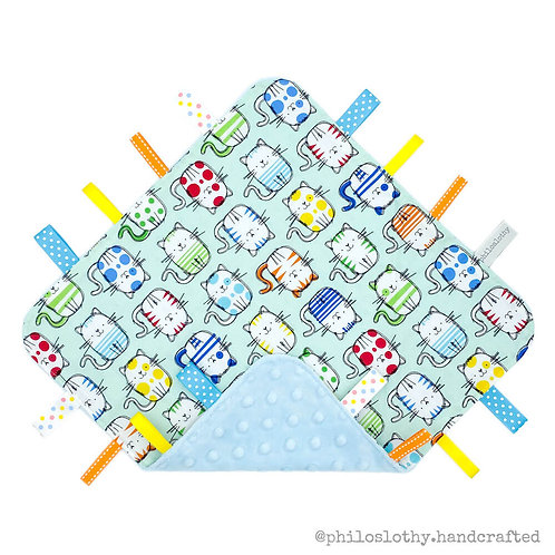 Tag Blanket - Snowball (Name Personalisation Available)