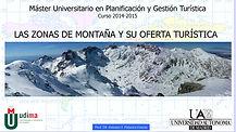 Imagen de la portada de la Conferencia sobre las zonas de montaña y su oferta turística