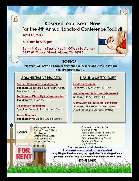 2019 landlord conference flyer - finaldr