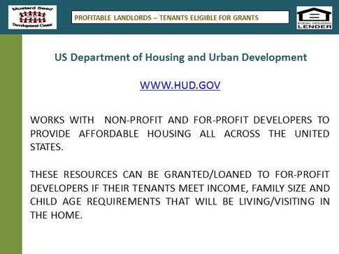 Grants & Affordable Loans for Profitable Landlords