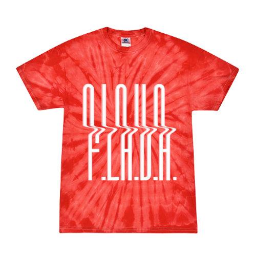 Red Tie Dye F.L.A.V.A. Tee