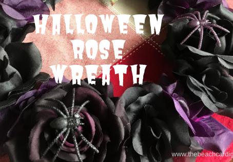 Halloween Rose Wreath