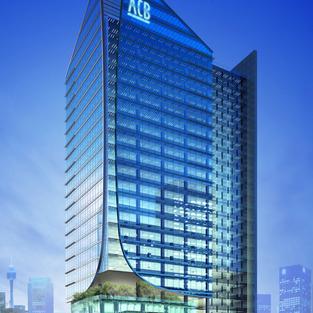 ACB 18 Storey Bank Office at Mac Dinh Chi, Dist 3, HCM City