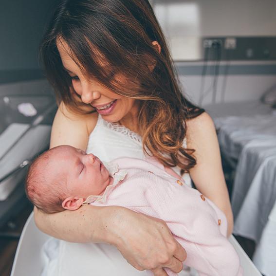 Photographe nouveau-né clinique de la muette
