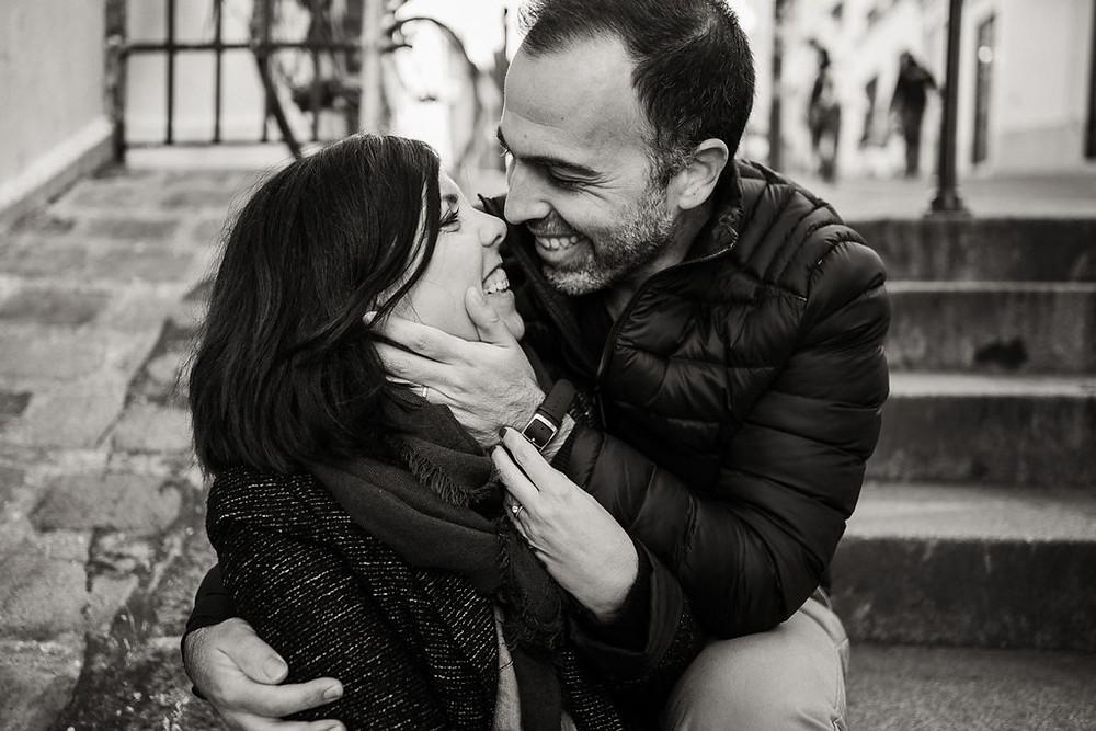 Une jolie séance photo en amoureux à montmartre