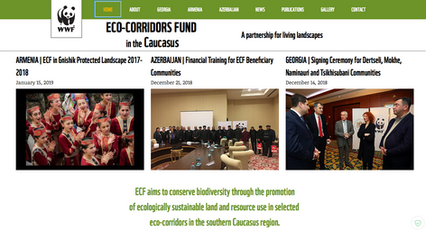 Eco-Corridors Fund - webpage content + design