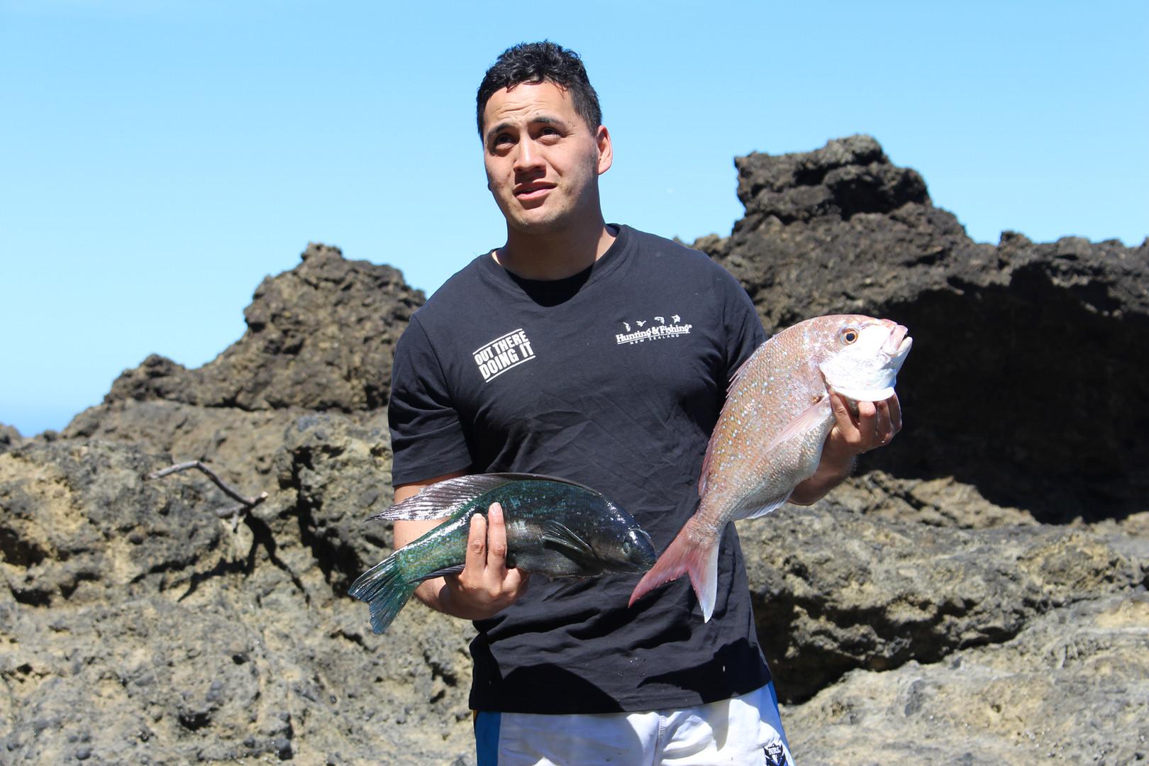 Rock fishing on the coast