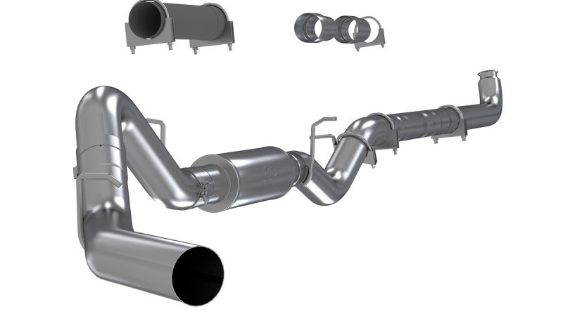 "2001-2007 Duramax MBRP 4"" PERFORMANCE SERIES DOWNPIPE-BACK EXHAUST SYSTEM S6004P"
