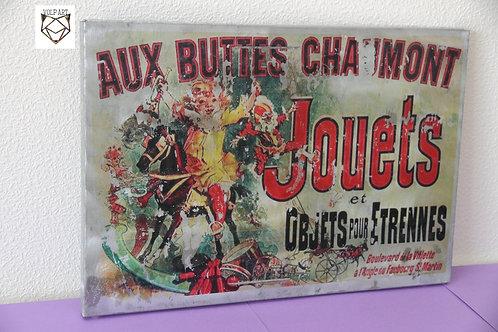 Plaque de décoration en métal Buttes chaumont 2