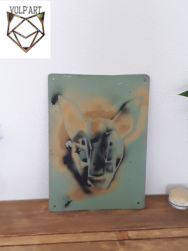 Plaque de décoration en métal Bull Terrier