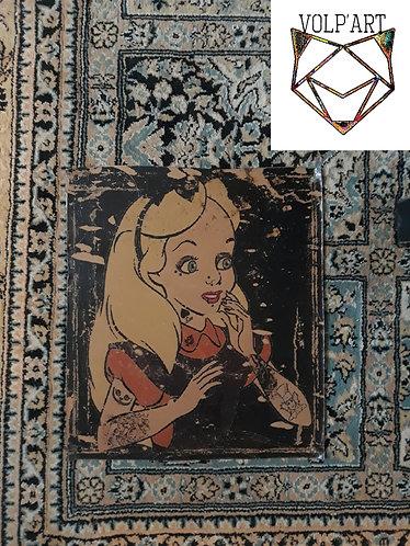 Plaque de décoration en métal Alice