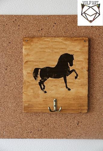 Accroche filets/licols mural Cheval/poney 4