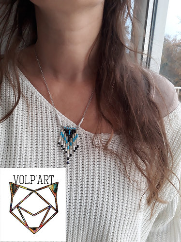 Réf. c09 - collier perles - lapis lazuli