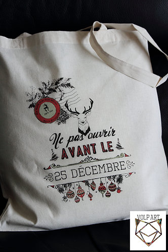 Tote Bag Noël.2 - 38 x 42 cm