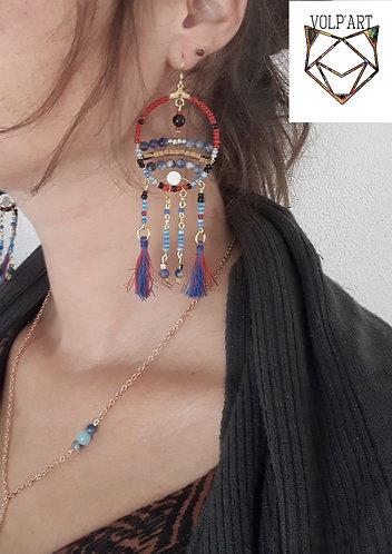 Boucles d'oreilles sodalites - réf. bo01