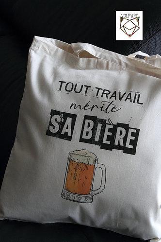 Tote Bag Bière - 38 x 42 cm