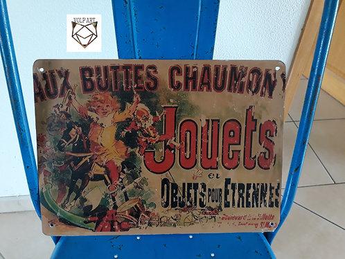 Plaque de décoration en métal Buttes chaumont 3