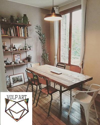 Table a manger style industriel - envoi France (hors Corse) compris